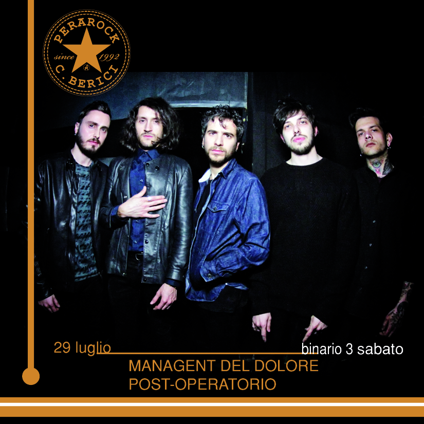 Management del Dolore Post-Operatorio Sabato 29.07.2017 Perarock Festival